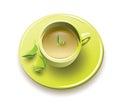 Organic green tea Royalty Free Stock Photo