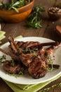 Organic Grilled Lamb Chops Royalty Free Stock Photo