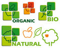 Organic icons Royalty Free Stock Photography