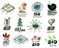 Organic label. Fresh and healthy food icons. Organic bio Logo, Eco Logo.