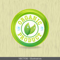 Organic label or sticker for products. Royalty Free Stock Photography
