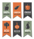 Organic Labels Stock Images