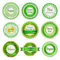Organic labels badges and stickers set of on natural food Royalty Free Stock Photos