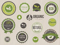 Organic labels and elements Stock Images
