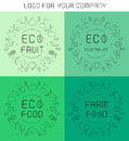 Organic labels set Royalty Free Stock Photo