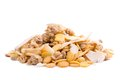Organic low carb muesli and healthy cereal on white background Stock Image