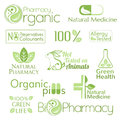 Organic medicine symbols set of Royalty Free Stock Images