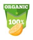 Organic natural fruit juice label template Royalty Free Stock Photo