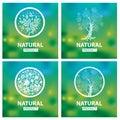 Organic natural logos vector design elements for Royalty Free Stock Photo