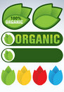 Organic and natural symbol Stock Image