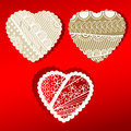 Organic Patterened Hearts scalloped edges