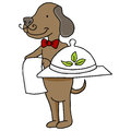 Organic pet food with dog an image of a serving Stock Photography