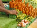 Organic produce at Farmers Market Royalty Free Stock Photo