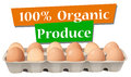 An organic produced eggs Stock Photography