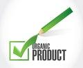 organic product check mark illustration design