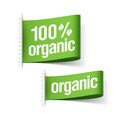 Organic product labels illustration Royalty Free Stock Image