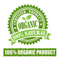 Organic Product Rubber Stamp Royalty Free Stock Photo