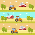 Organic products agriculture and farming agribusiness rural landscape eps Royalty Free Stock Photography