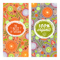 Organic products vertical flyers set