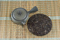 Organic raw pure tea chinese puer Stock Photography