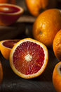 Organic raw red blood oranges on a background Stock Photography