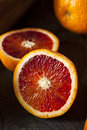 Organic raw red blood oranges on a background Royalty Free Stock Photo