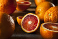 Organic raw red blood oranges on a background Royalty Free Stock Photos