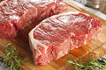 Organic Red Raw Steak Sirloin Royalty Free Stock Photo