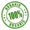 100 organic rubber stamp