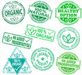 Organic rubber stamps Royalty Free Stock Photography