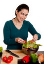 Organic Salad preparation Royalty Free Stock Images