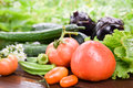 Organic summer vegetables Royalty Free Stock Photo