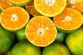 Organic tangerine thailand food sweet nature orange green juice fresh Stock Image