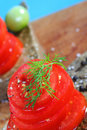 Organic tomatoe salad Stock Images