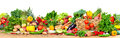 Organic vegetables and fruits Royalty Free Stock Photo