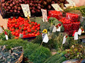 Organic vegetables market stall fresh raw sold on Stock Photo