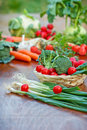 Organic vegetables should be more represented in diet Royalty Free Stock Photo