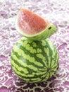 Organic watermelons Stock Image