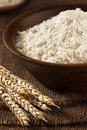 Organic whole wheat flour ready for baking Royalty Free Stock Photography