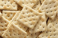 Organic whole wheat soda crackers ready to eat Stock Photo