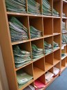 Organised file folders full of papers Royalty Free Stock Photo