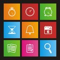 Organiser metro style icon sets suitable for user interface Royalty Free Stock Images