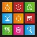 Organiser metro style icon sets Royalty Free Stock Photo
