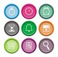 Organiser round icon sets suitable for user interface Stock Image