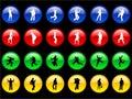 Organismen op de Knopen Royalty-vrije Stock Foto's