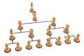 Organization chart Royalty Free Stock Photo