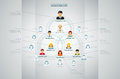 Organization chart corporate with business people icons vector illustration Royalty Free Stock Images