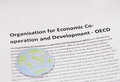 Organization for economic co operation and development oecd pic Royalty Free Stock Photos