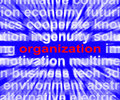 Organization word shows institution showing or be organized Royalty Free Stock Photography