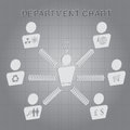 Organizational department chart vector set of Stock Photography